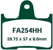 EBC Тормозные колодки DOUBLE H Sintered FA254HH