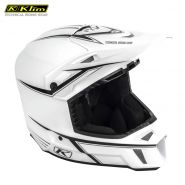 Шлем Klim F3 Cross White Black Pinstripes